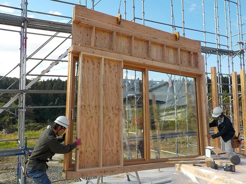 木製サッシパネル設置①.JPG